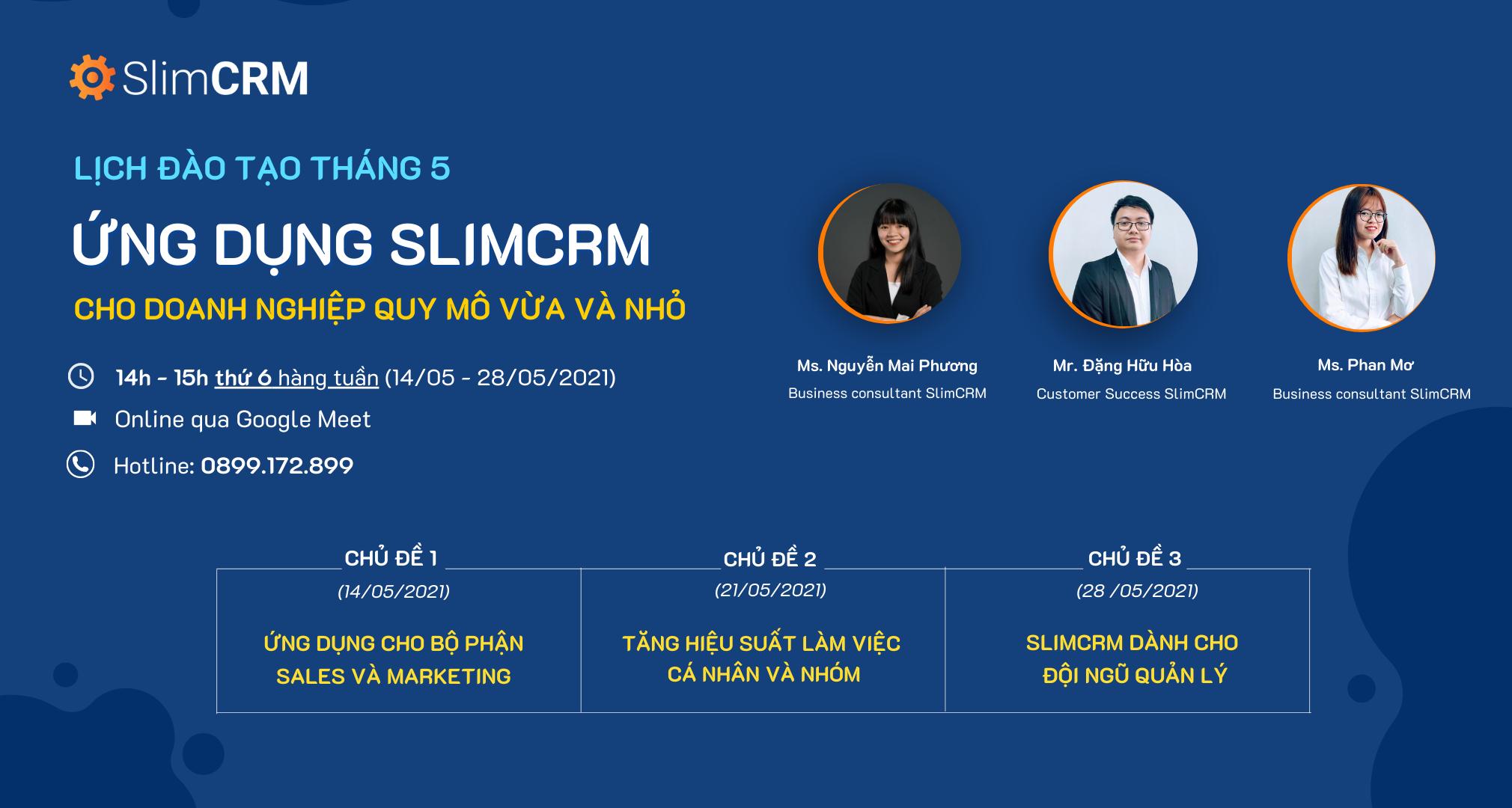 đào tạo SlimCRM