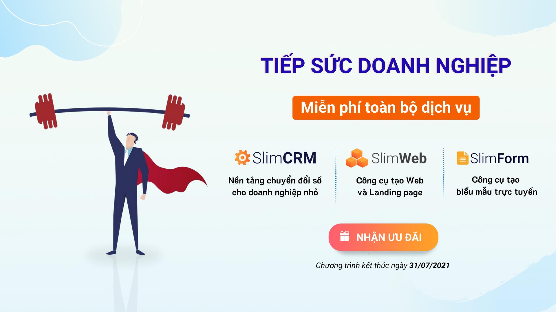 SlimCRM tiếp sức doanh nghiệp